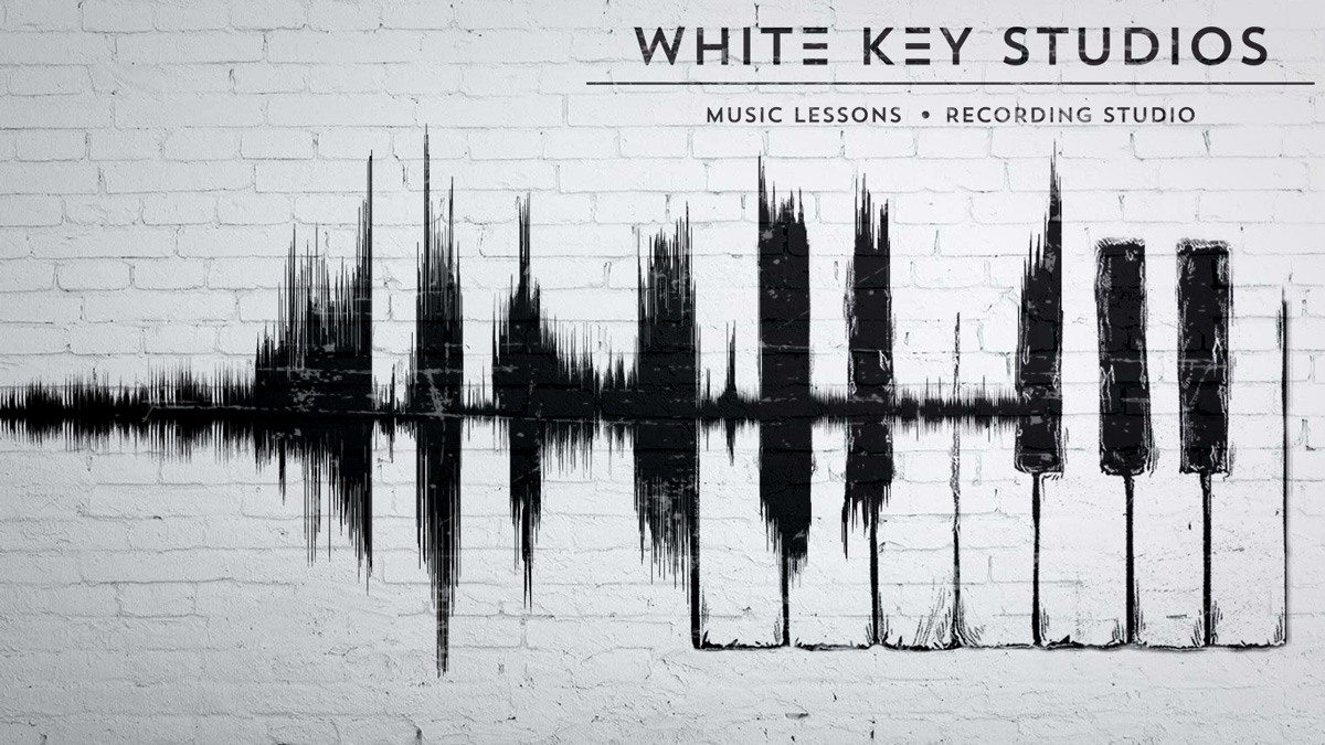 White Keys Studio Wall Mural