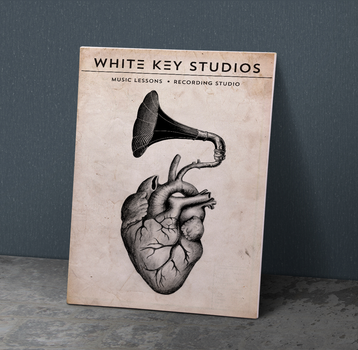 White Keys Studio Poster
